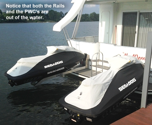 Jet Ski PWC Rail Lift for Houseboats