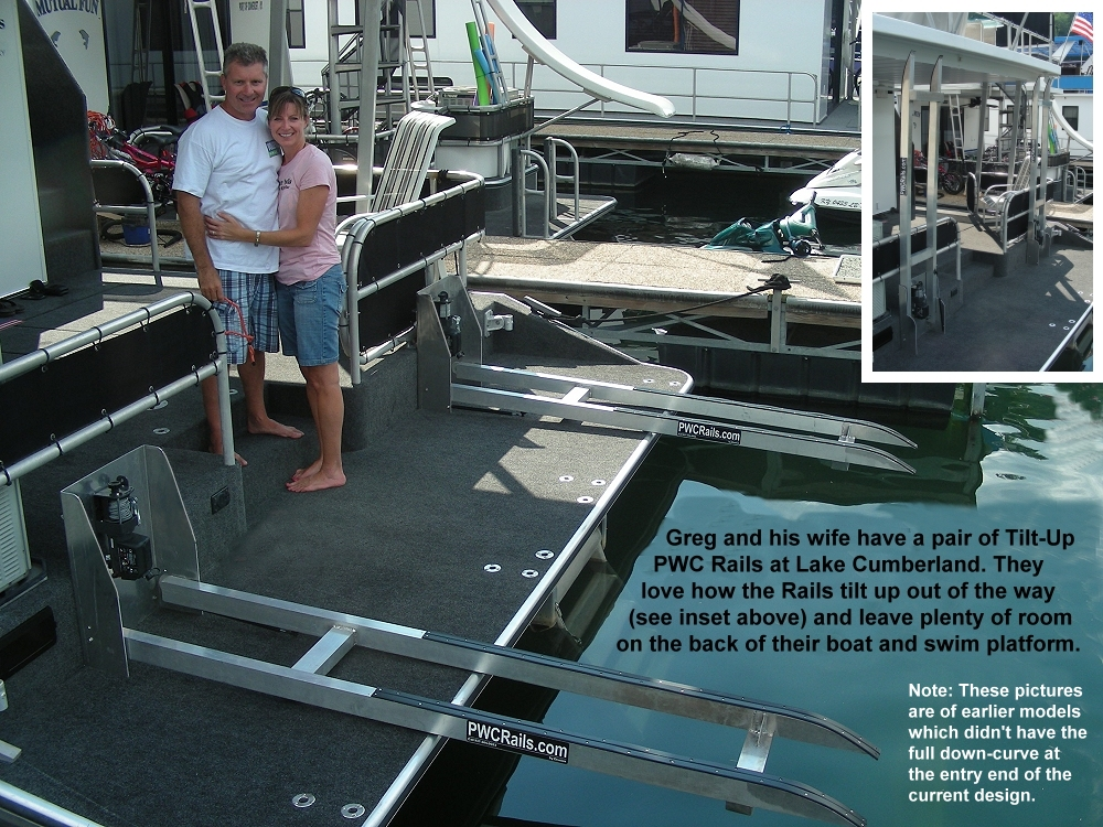 PWC Rails for Houseboats, Yachts, Docks, and Piers